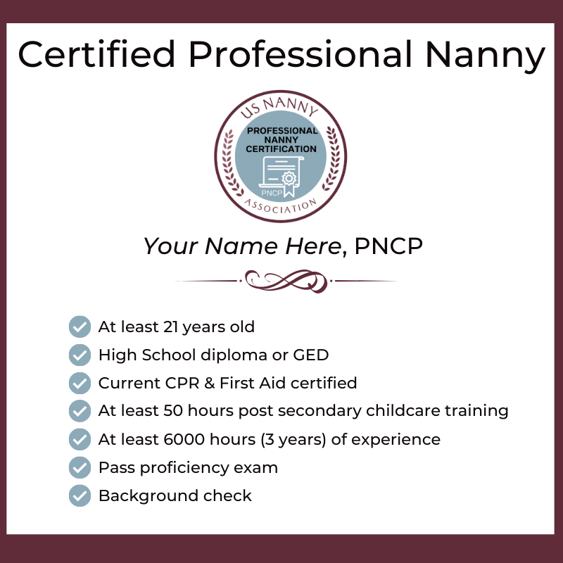 Certified Professional Nanny Name