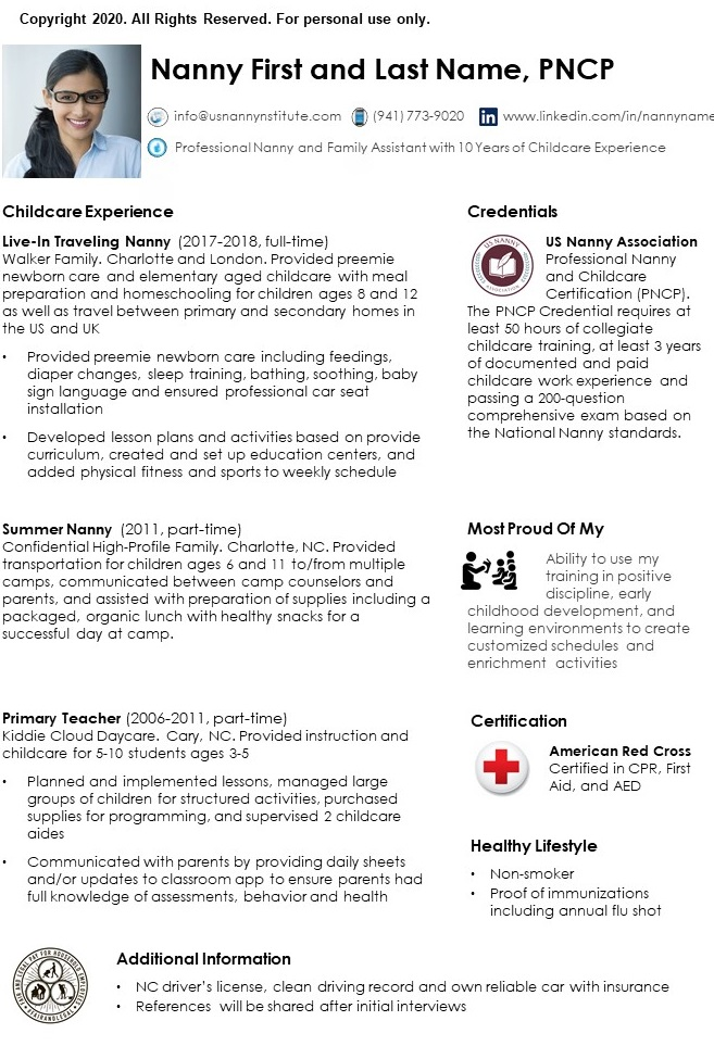 Nanny resume page 2