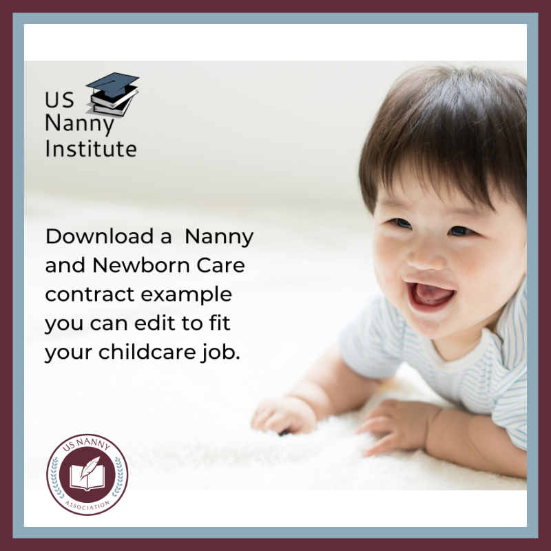 Nanny contract logo and website link