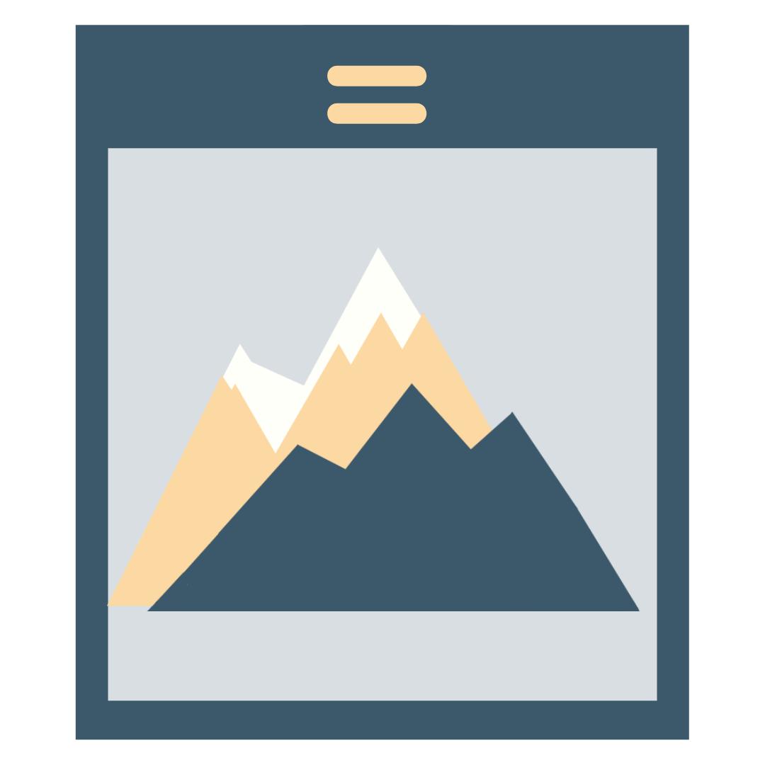 icon of a mountain range
